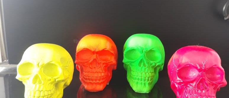 Crânio Caveira Fluorescente Resina