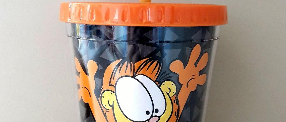 Copo com Canudo Garfield