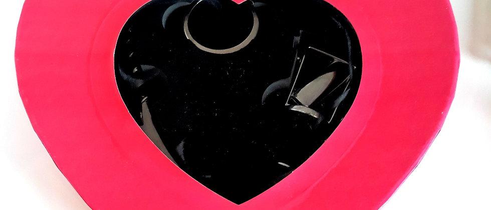 Kit Vinho Coração Amor Combina