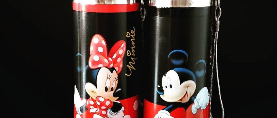 Garrafa Térmica Mickey e Minnie Mouse Disney 500 ml