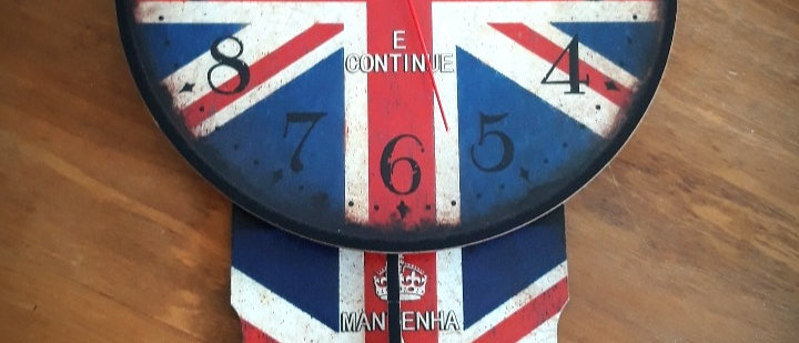 Relógio Parede Pêndulo Londres Keep Calm
