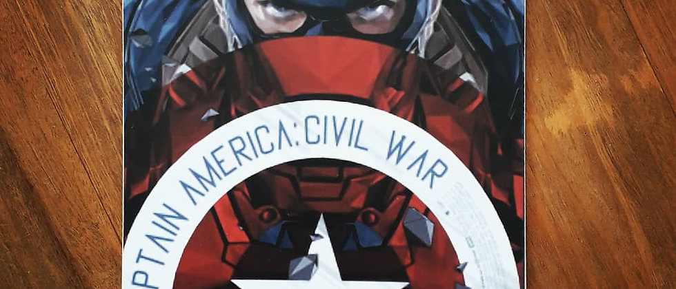 Placa Capitão América- Civil War