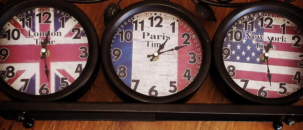 Relógio de Mesa 3 em 1 Retro