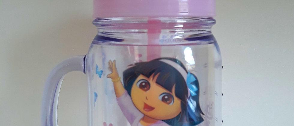 Copo 420 ml com canudo Dora
