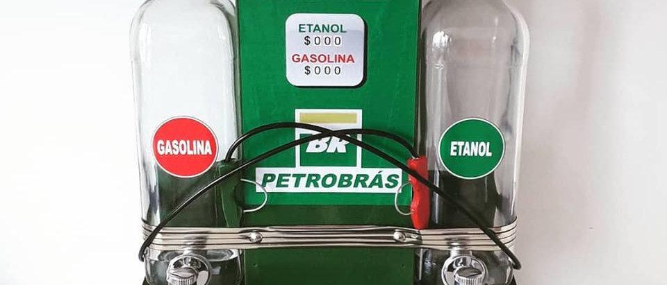 Pingometro bomba de combustível posto BR Gasolina \ Etanol