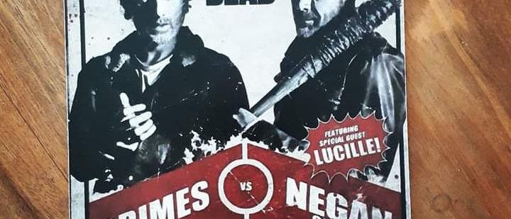 Placa Rick VS Negan - The Walking Dead