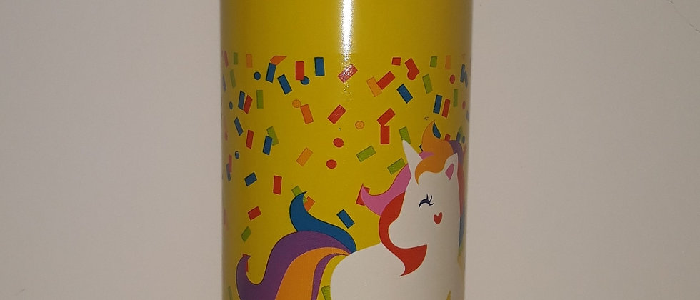 Garrafa Unicórnio Infantil Squeeze Aluminio 500 ml