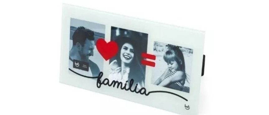 Porta Retrato Triplo Nossa Família