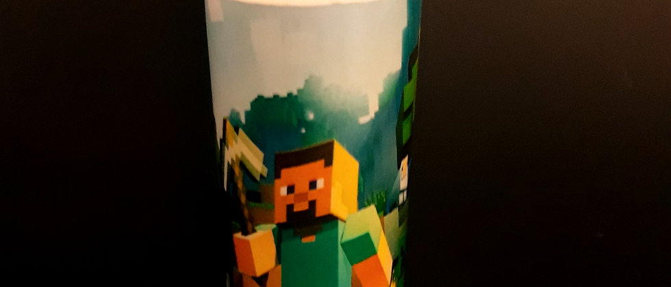 Copos Long drink 320 ml acrílico minecraft
