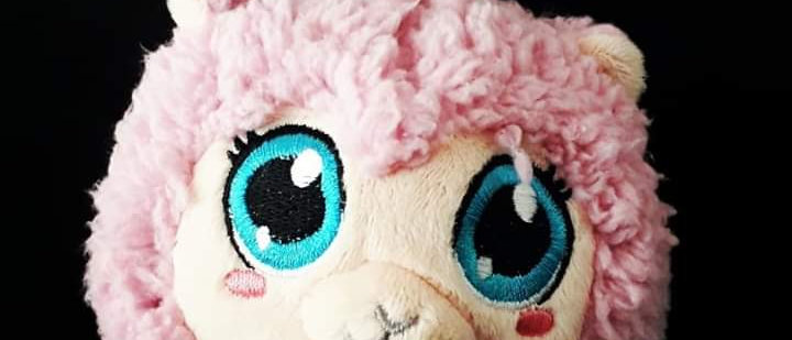 Almofada Chaveiro Pompets Ovelha Rosa