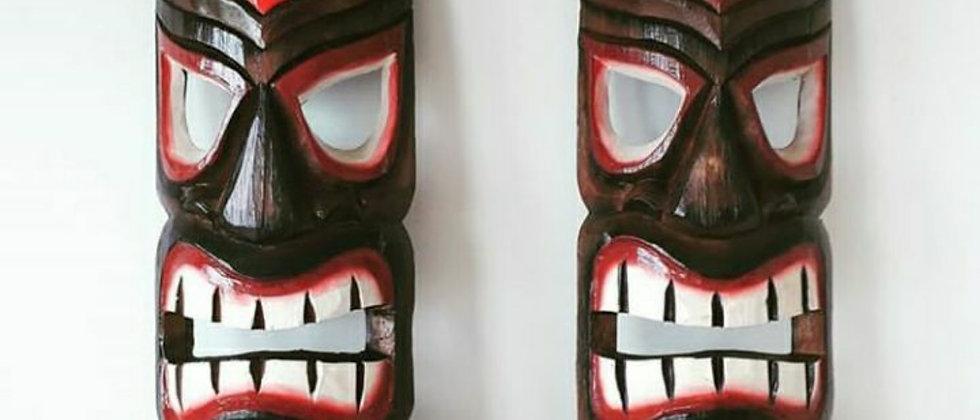 Mascara Carranca Totem Hawaiana Tiki