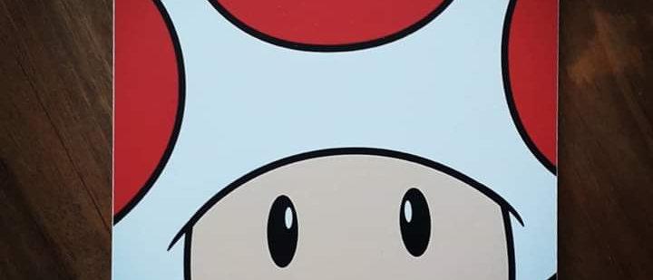 Placa Turma Mario Bros
