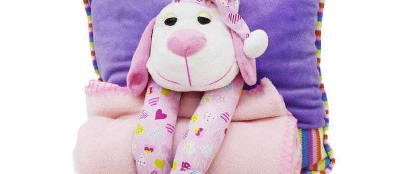 Almofada Cachorro com cobertor