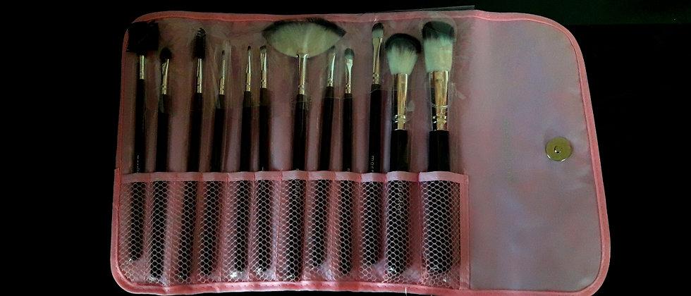 Kit com 12 pincéis Maquiagem Profissional Luisance