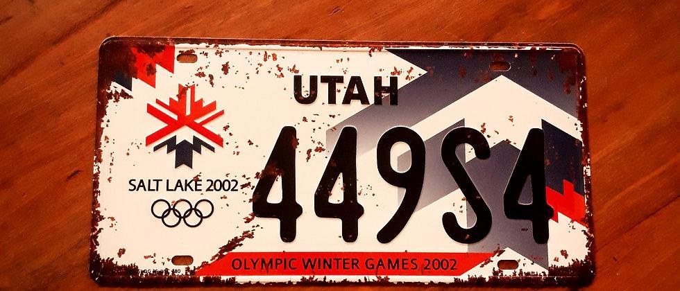 Placa de Carro Utah
