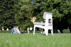 OULA White Chair by Figuron.