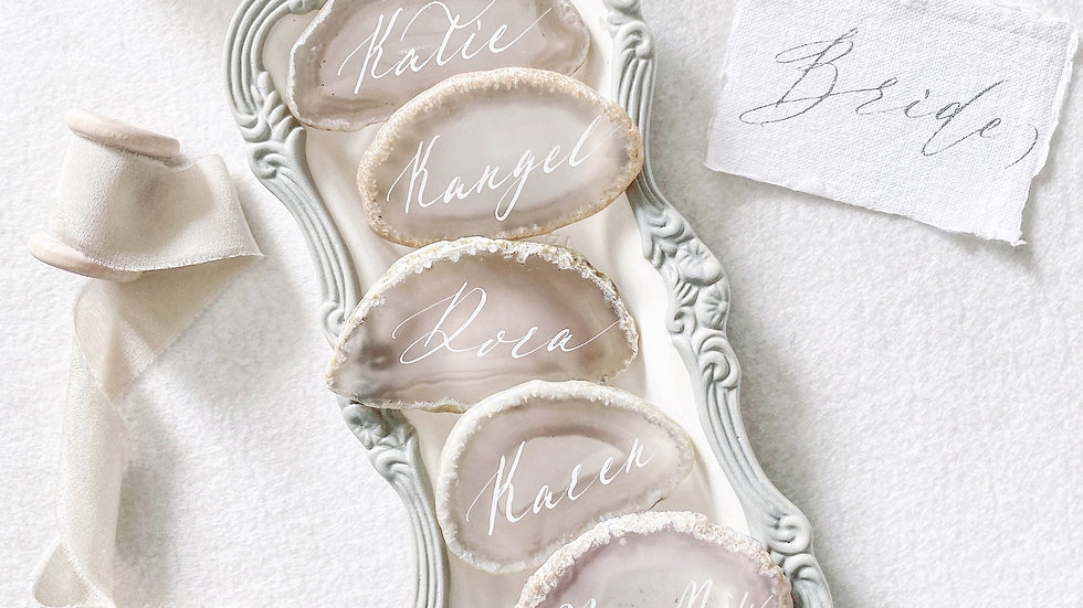 AGATE STONE PLACECARD - SMALL