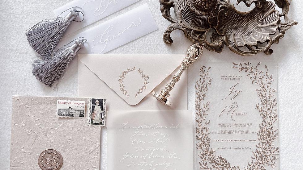[FOREST MATT ACRYLIC] WEDDING INVITATION COLLECTION 透明磨砂囍帖
