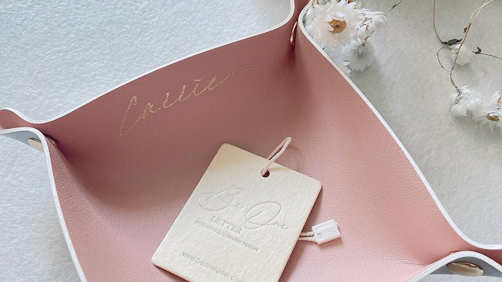 Leather tray (home decor) 皮革收納盤 (5色可選) 鑰匙盤