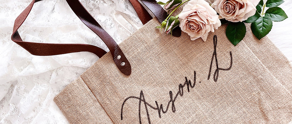 HANDLETTERING MINIMAL BAG 客製手寫 環保麻布購物袋 英文書法 Be one letter x Annibody