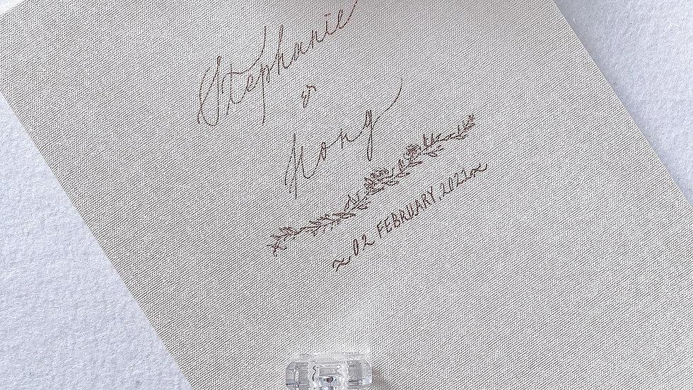 CUSTOM LINEN MARRIAGE CERTIFICATE FOLDER  客製 優雅麻布婚禮證書套   - 客製