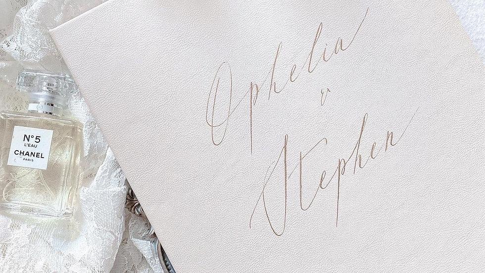 CUSTOM LEATHER MARRIAGE CERTIFICATE FOLDER (5 Colors)  客製 皮製婚禮證書套   - 客製
