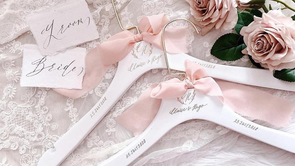 FRENCH WEDDING HANGER客製法式婚禮衣架 (2入一組)