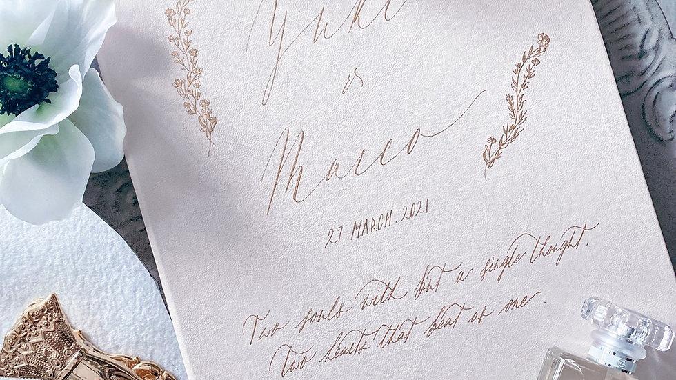 客製 結婚證書皮套 CUSTOM LEATHER MARRIAGE CERTIFICATE FOLDER (5 Colors)