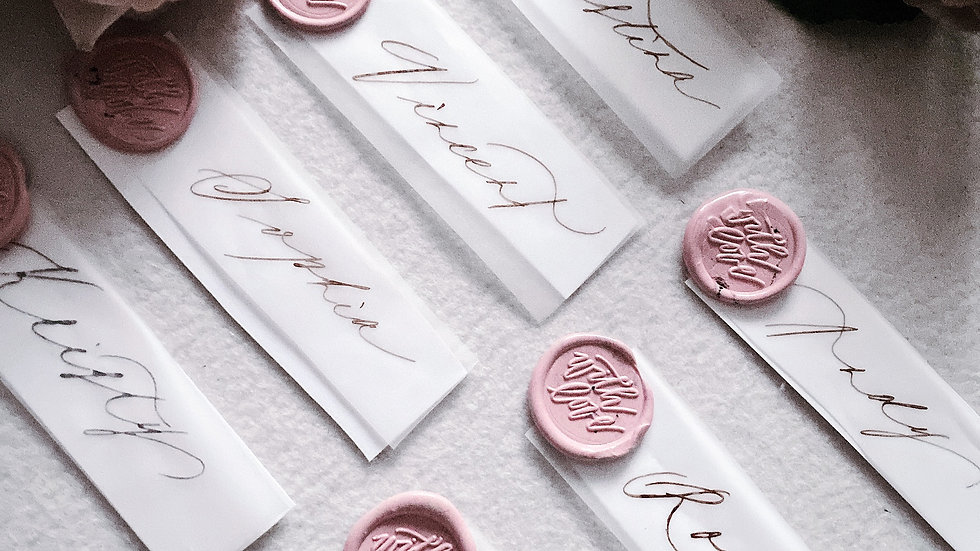 WAX SEAL WEDDING ESCORT CARD (10's pack) - WITH LOVE