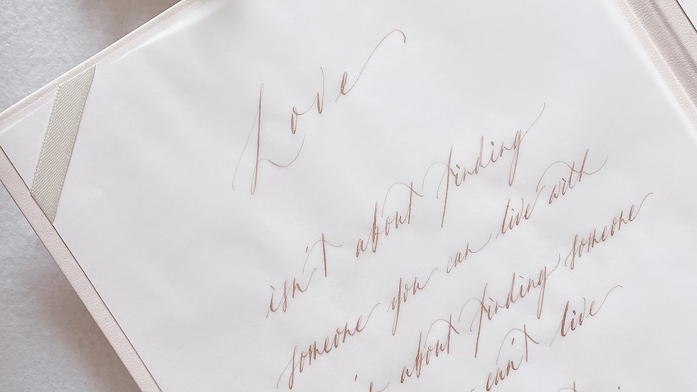 HAND-LETTERING CALLIGRAPHY LOVE QUOTE 手寫復古LOVE QUOTE