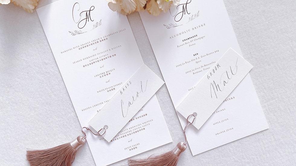 MENU - CUSTOM WEDDING MENU (MIN 50)