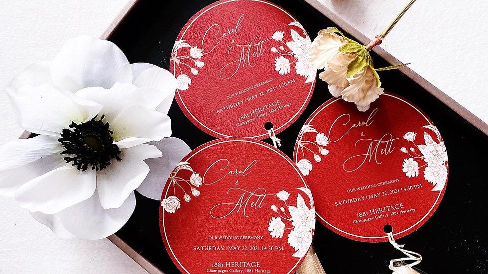 CHIC WEDDING CEREMONY CARD WITH TASSEL