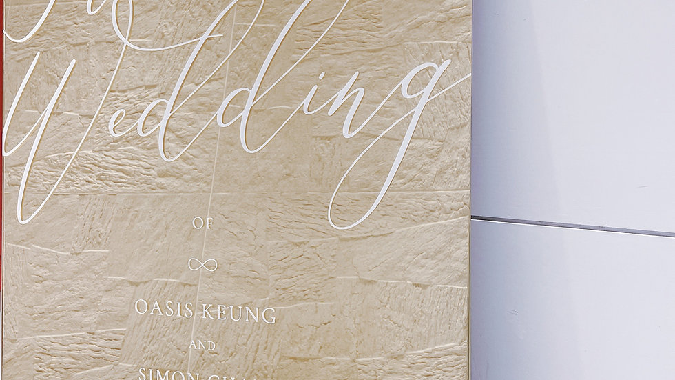 GOLD MIRROR ACRYLIC WEDDING WELCOME BOARD