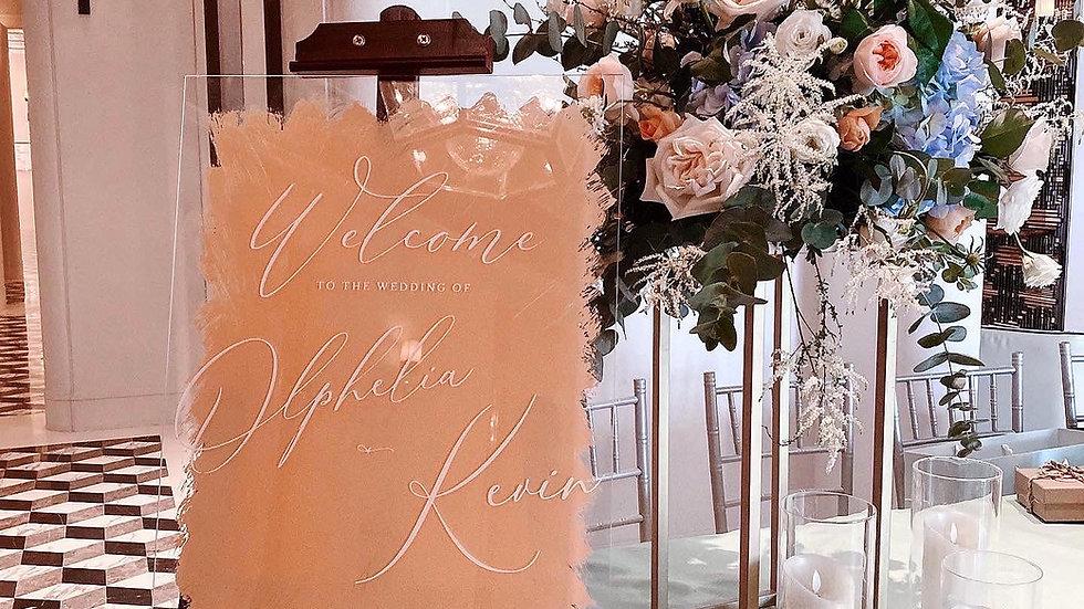 ACRYLIC WEDDING WELCOME BOARD