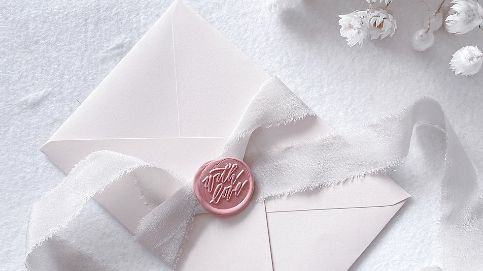 [WITH LOVE] - WAX SEAL STAMP  COLLECTION + 50'S WAX BEADS