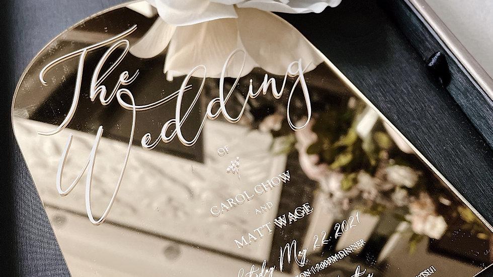 [Gold Mirror Royal Door ] WEDDING INVITATION COLLECTION