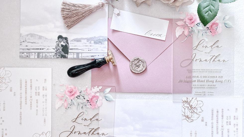 [FLORAL MATT ACRYLIC] WEDDING INVITATION COLLECTION