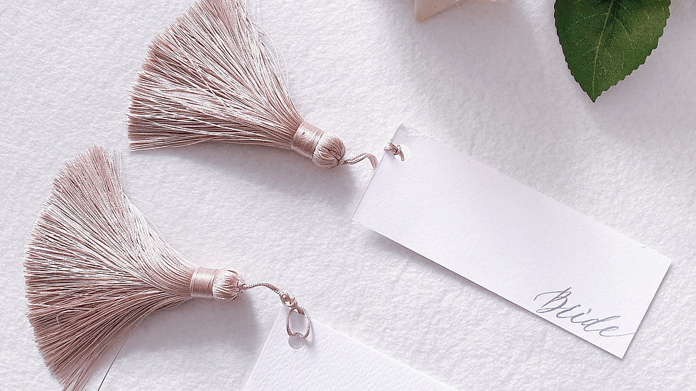 TASSEL WEDDING ESCORT CARD (10's pack)