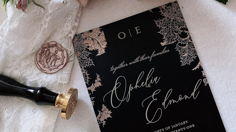 [JAPAN MOOD] MATT ACRYLIC WEDDING INVITATION COLLECTION