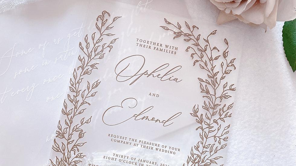 [FOREST MATT ACRYLIC] WEDDING INVITATION COLLECTION