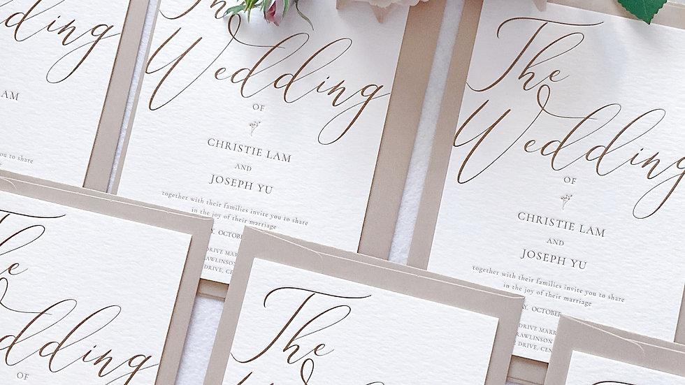 WEDDING INVITATION CARD - MODERN DESIGN ( MIN 50)
