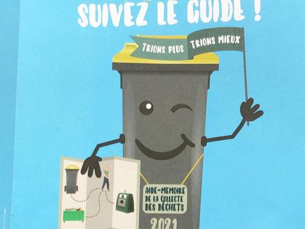 Guide poubelle jaune