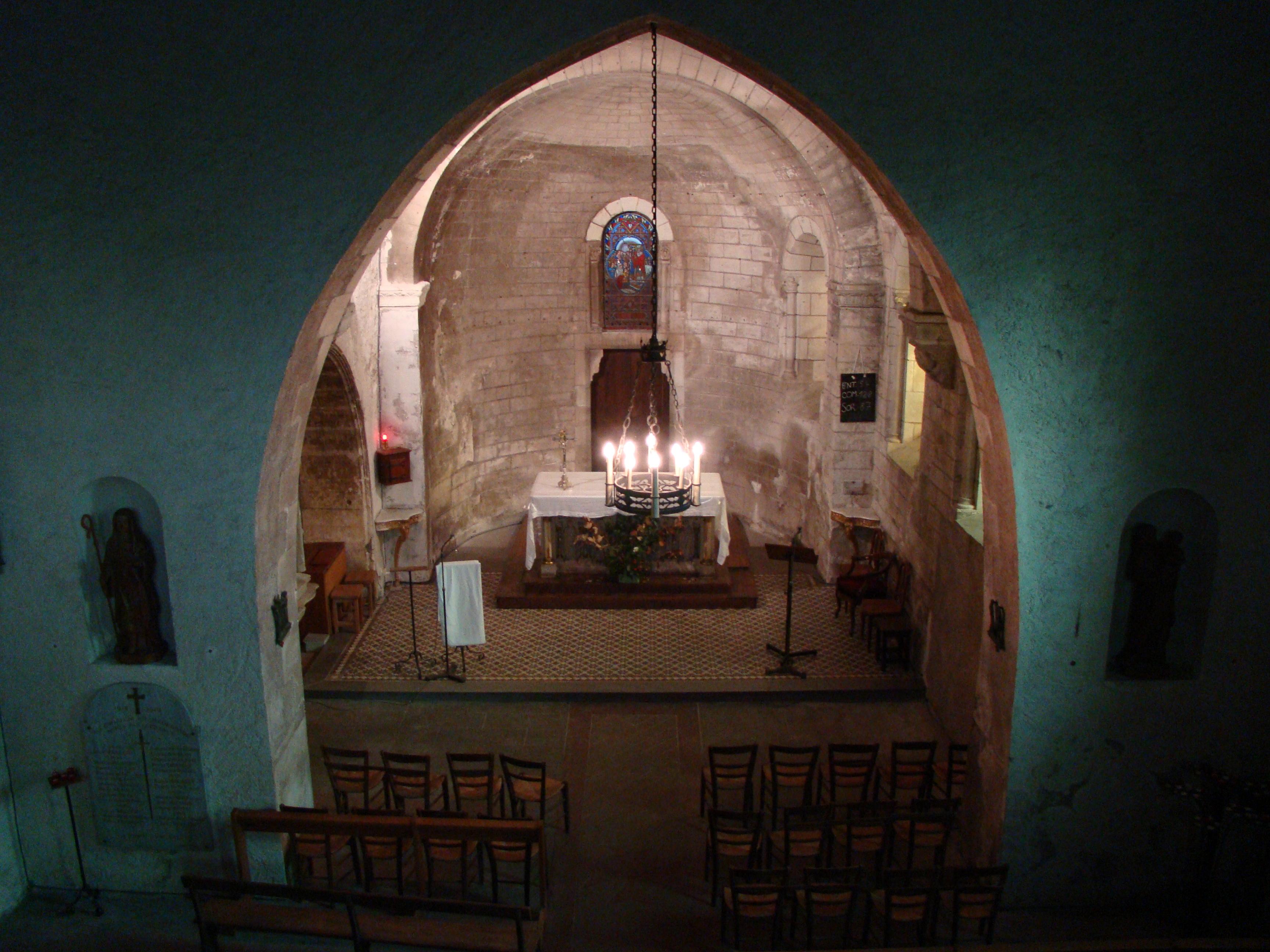 choeur eglise sainte radegonde