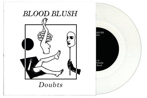 "Blood Blush - Doubts 7"" Lathe Cut Vinyl Record"