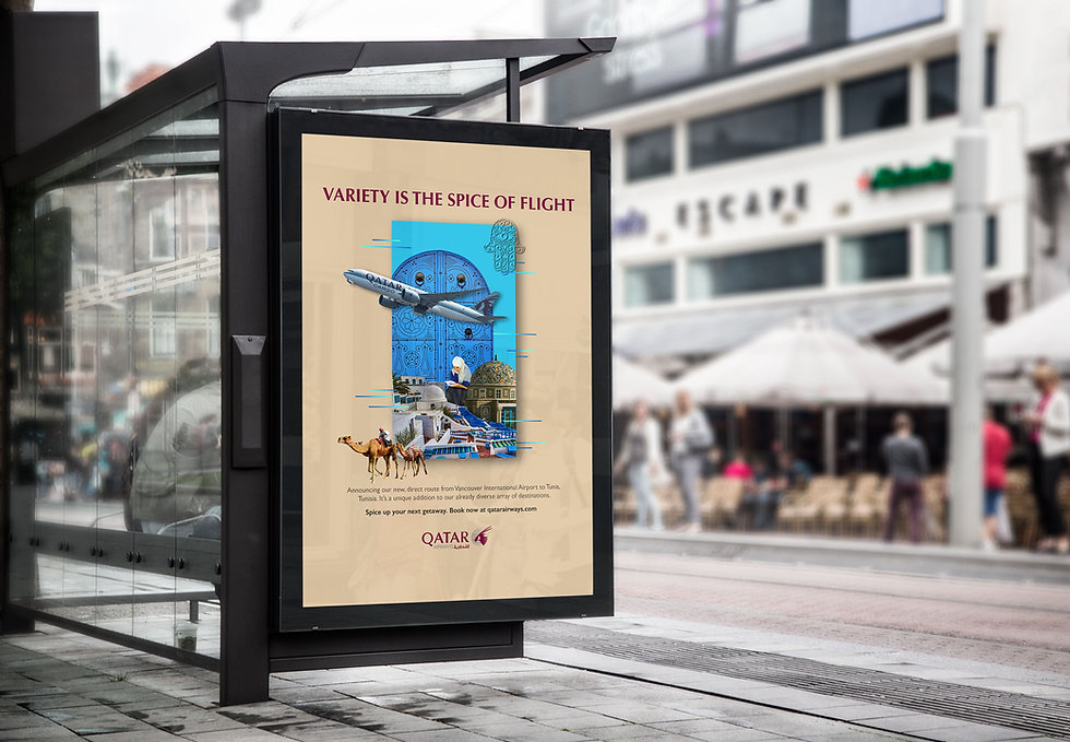 airline ad-Bus Stop Billboard MockUp fla