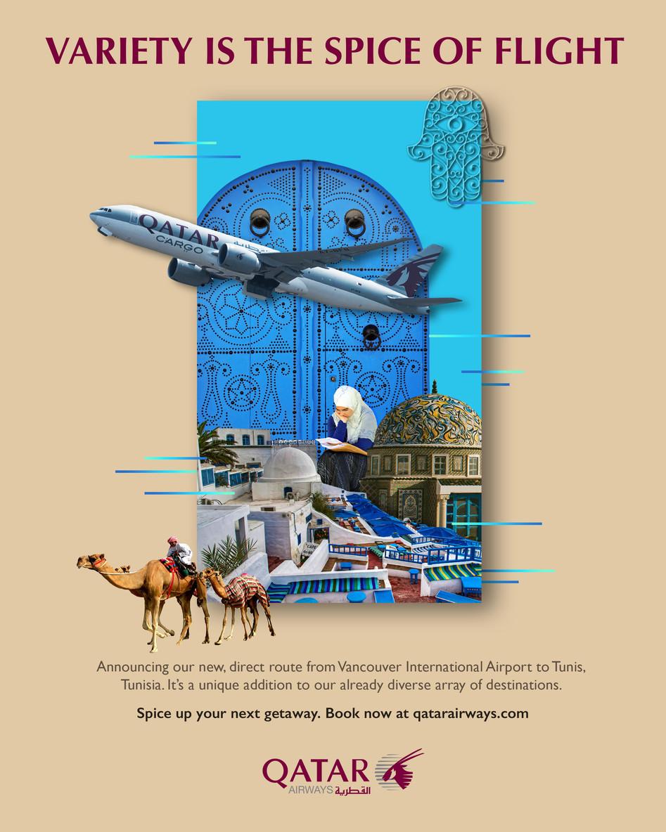 Qatar airline ad