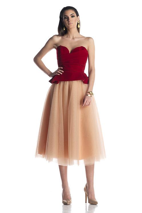 HH Velvet Corset and Tulle 222 Skirt set