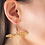 Thumbnail: Dragonfly Earrings - 24k gold-plated