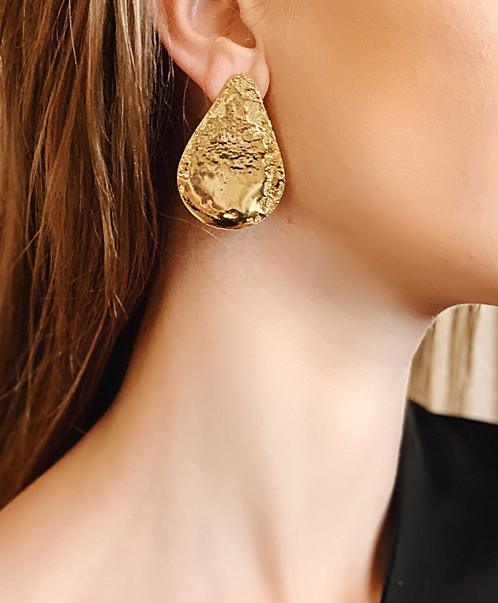 Lobe Earrings - 24k gold-plated