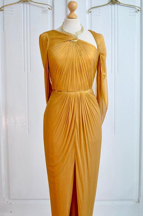 Rochie Oro Antico lungă 100% silk